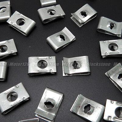 300 Pcs Metal Car Vehicle Door Panel Screw U-Type Nut Fastener Clips 17.8mm*11mm