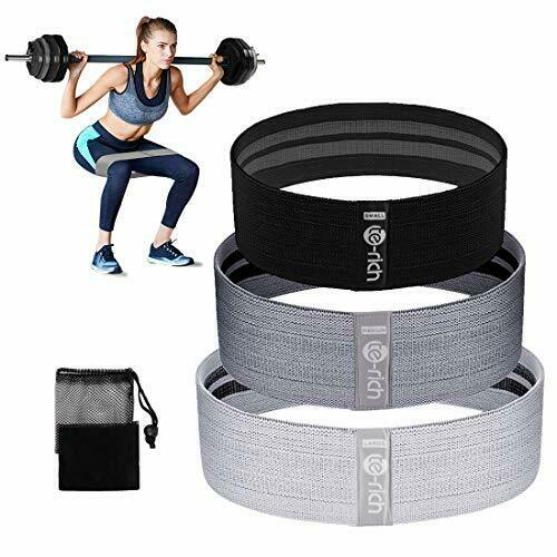 Fabric Resistance Loop Exercise Bands Cloth Booty Training Bands Heavy Non Slip