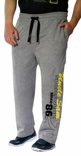 Uncle Sam Herren Bodyhose//Trainingshose//Fitnesshose Größe XL 6XL Grau