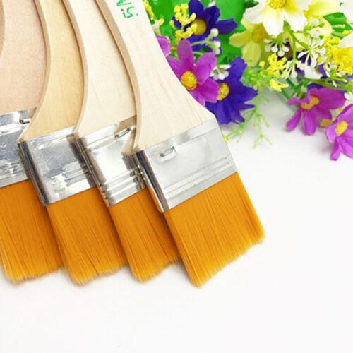 12x Large Area Painting Brushes Artists Paint Brush Flat Tip Nylon Hair Brushes