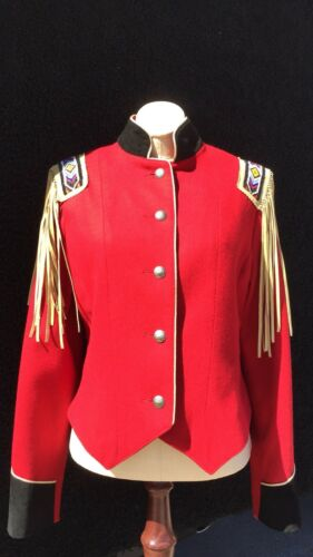 Jacket New Wool North Western Ladies Red Sz Small American Frontier SYXqYxwFr