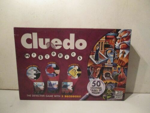 CLUEDO MYSTERIES DETECTIVE GAME - 100% COMPLETE VERY GOOD CONDITION