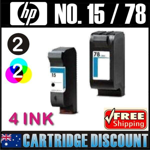 4 Ink Set 2B2C for HP 15 78 Officejet v30 V40 v40xi V45 PSC720 PSC750 PSC750xi