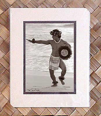 "New Kim Taylor Reece /""Uliuli/"" 8 X 10 Double Matted Hawaiian Hula Print"