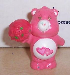 1984 Kenner Care Bears Love A Lot Bear Mini Pvc Figure Vintage 80's