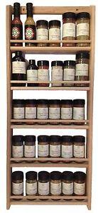 Solid-OAK-Wood-Spice-Rack-32-75-034-H-x-13-75-034-W-Wall-Mount-Wooden-Spice-Rack