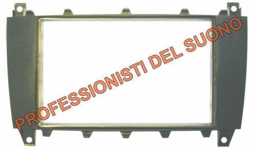 Mascherina radio DOPPIO ISO MERCEDES CLASSE C dal 2004
