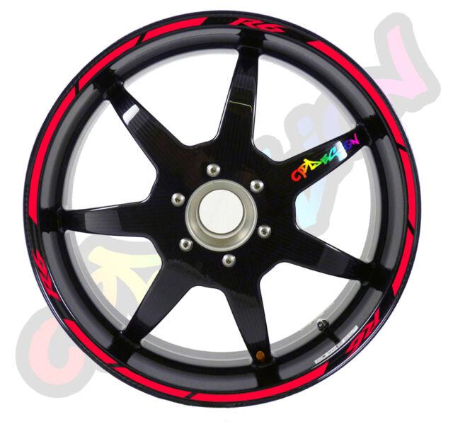 BIKE RIM WHEEL STRIPES TYPE 1 FOR  YAMAHA R6  sticker tuning racing