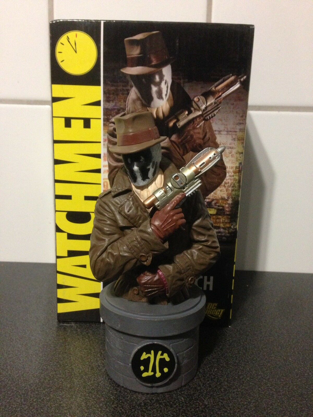 DC Comics WatchSie Rorshach Bust Alan Moore Dave Gibbons