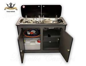 Vw Transporter T5 Lightweight Ply Camper Kitchen Removeable Pod Smev 9222 Sink