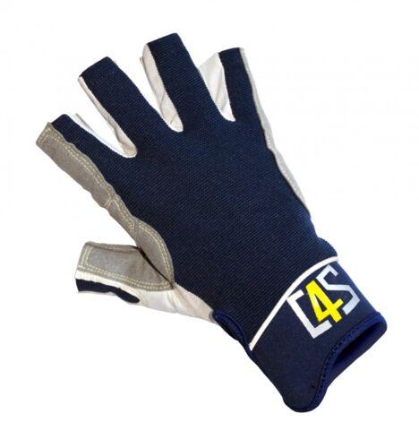 crazy4sailing Amara Kunstleder Segelhandschuhe Racing 5 Finger frei Segeln Glove Handschuhe