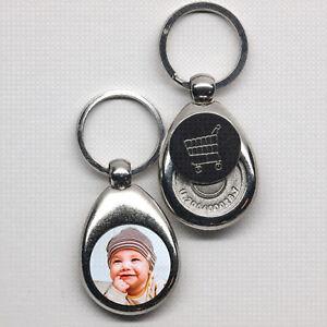 Schluesselanhaenger-Metall-mit-Foto-Chip-Geburtstag-Taufe-Geschenk-Baby-Geburt