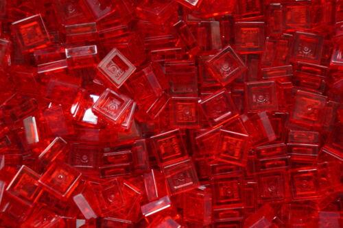 LEGO 100 x RED FLAT TILE PLATE BRICKS  1x1 PIN No 3024 30039