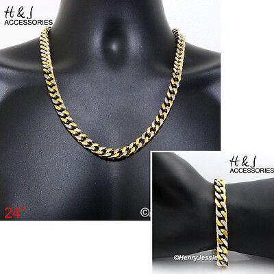 "24/""MEN Stainless Steel 9x4mm Silver Cuban Curb Necklace JESUS Cross Pendant*SBJ1"