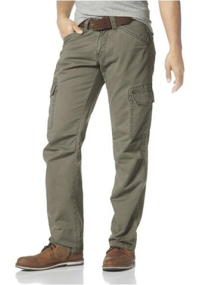 Timezone Jayden Tz Loose Fit Cargo Trousers New W31-W33 L34 Men's Khaki Pants