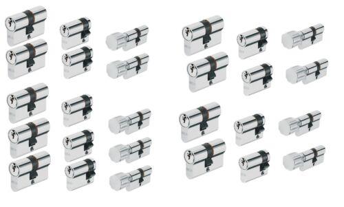 9er Set Abus Profilzylinder Schließzylinder Knaufzylinder  Schließanlage Gleich