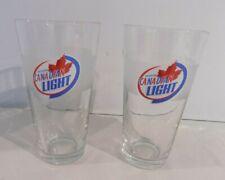 Molson Canadian 67 Beer Glasses Set of 2  Pilsner Style 12oz.
