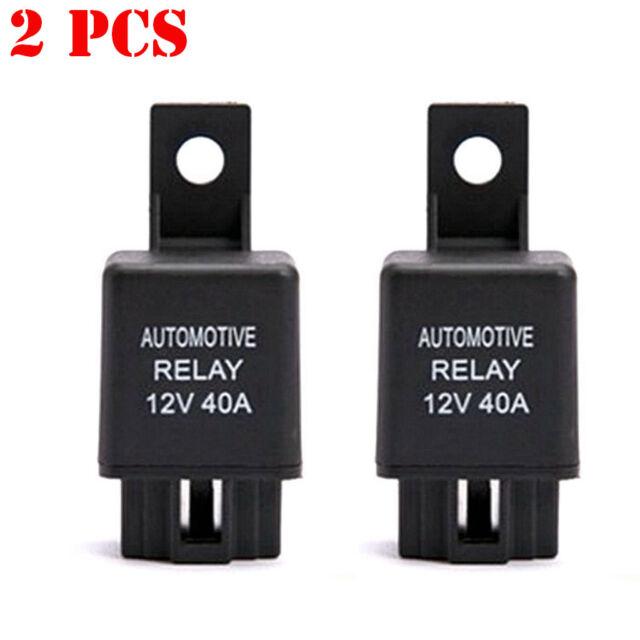 2X DC12V 40A 40 AMP Car Auto Automotive Van Boat Bike 4 Pin SPST Alarm on