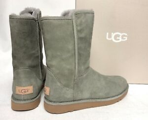 28f918ea135 Details about UGG ABREE Short II Rock Ridge SUEDE SHEARLING Side Zip BOOTS  1016589 sizes