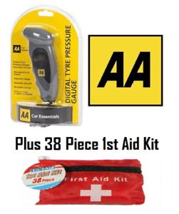 AA Digital Tyre Pressure Gauge Car Air Pressure Gauge PSI /& Bar