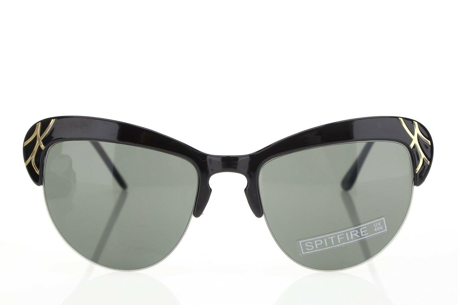 Spitfire England 158826 Cat Eyes Black/Gold Pro Wings Sunglasses 53 12 140