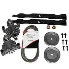 Lawn Mower Rebuild Kit 38in Deck Belt Spindle Blades Craftsman Husqvarna Parts