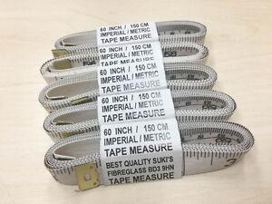 Cinq-x-1-5-m-60-034-Long-Ruban-a-mesurer-Ruban-a-mesurer-en-fibre-de-verre-avec-imprime-noir