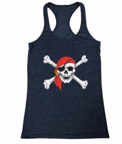Pirate And Crossbones Women/'s junior Racerback Tank Top