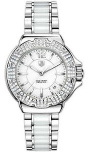134e6f0cda8 NEW TAG HEUER FORMULA 1 WAH1215.BA0861 DIAMOND BEZEL CERAMIC & STEEL ...