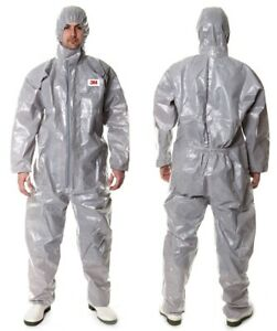 3M 4570 Gray Hooded Protective Coverall High-performan