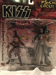 COLLECTIBLE GENE SIMMONS /THE RING MASTER KISS PSYCHO CIRCUS ACTION FIGURE NEW