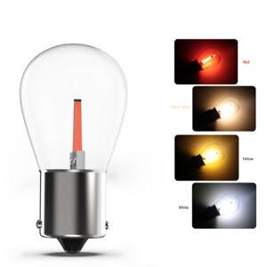 2x-1156-ba15s-COB-LED-Auto-Schwanz-Blinker-Gluehbirne-Lampe-Hell-weiss-12v-NEU