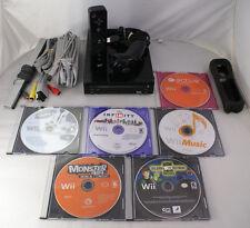 Nintendo Wii Console System Bundle + 6 Wii Games! + 1 Remote + 1 Nunchuck Black