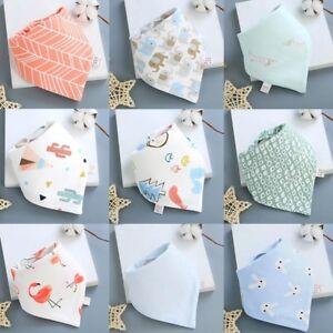 Infant-Baby-Boy-Girl-Cotton-Bandana-Bibs-Feed-Saliva-Towel-Dribble-Triangle