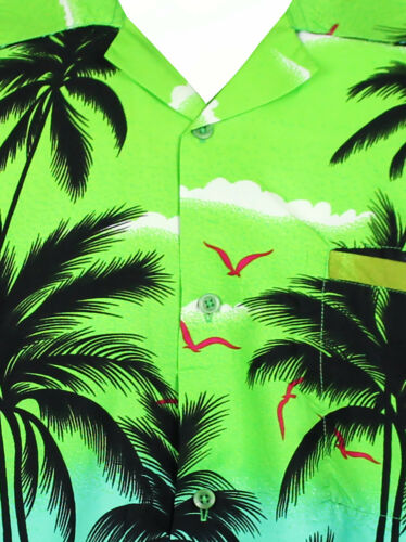 Funky Camicia Hawaiana Beach Verde