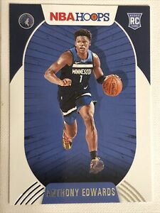 2020-21 Panini NBA Hoops #216 ANTHONY EDWARDS - FIRST TRUE ROOKIE CARD RC MINT!!