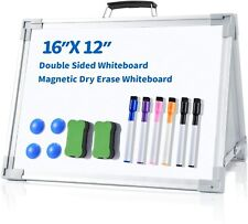 Dry Erase Board For Kids Ohuhu 12x16 Magnetic Desktop Foldable Double Sided