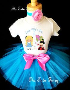 Alice In Wonderland Queen Baby Girl 1st First Birthday Tutu Outfit