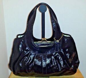 ca80066bc NEW Coach Ergo Black Patent Leather Kisslock Framed Satchel #12248 ...