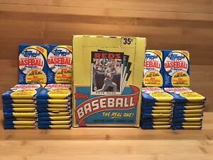 Full-Box-Topps-1986-Baseball-36-Wax-Packs-Rose-Clemens-Ripken-Gwynn-Nolan-Ryan