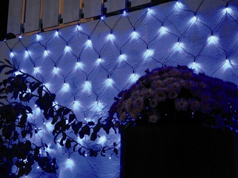 2x1m 2x1m 2x1m LED Lichternetz BLAU 96 LEDs outdoor IP44   Lichterkette Lednetz Außen | Ausgezeichnetes Preis  7a1375
