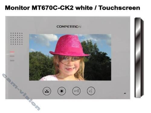 """Vidéo sonnerie pièce jointe 7/"""" tactile Moniteur 23mm plat 110 ° grand angle sony CCD caméra"""
