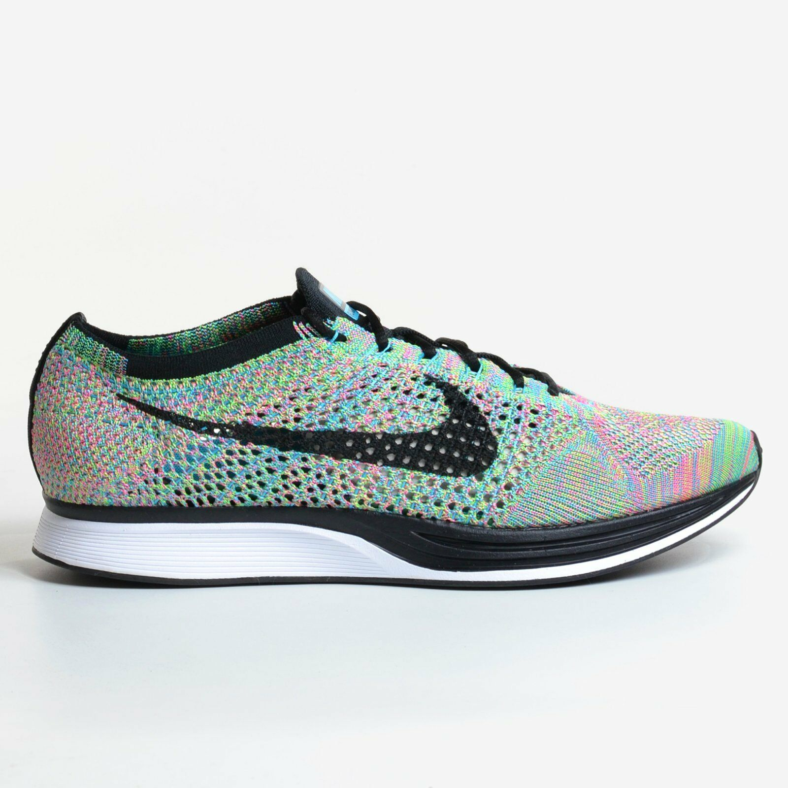 Nike Flyknit Racer Multicolor 2.0 Green Strike 2017 Black Running DS 526628-304