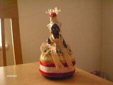 "Vintage Collector Doll. African Lady. Roughly 6 1/2"" high. Beanbag base."