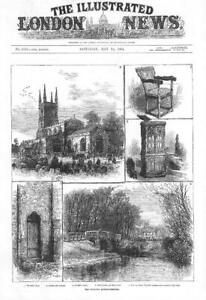 1884-LEICESTERSHIRE-Lutterworth-Views-John-Wycliffe-Quincentenary-Swift-137