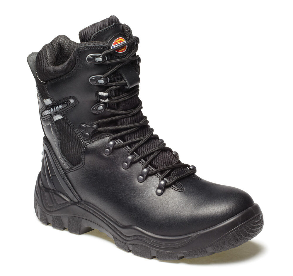 6a93bfff7aa Dickies Mens Quebec Lined Safety Work Boots Size 6 - 12 Black Steel Toe Cap  Boot