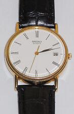 GENTS SEIKO 9CT SOLID GOLD QUARTZ WATCH,GREAT CONDITION ORIGINAL BOX