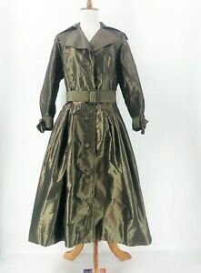 Rickie-Freeman-for-Teri-Jon-Iridescent-Green-Coat-Dress-Size-6-Jacket-Dress