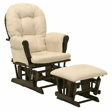 Stork Craft Hoop Glider And Ottoman Set Espresso Beige