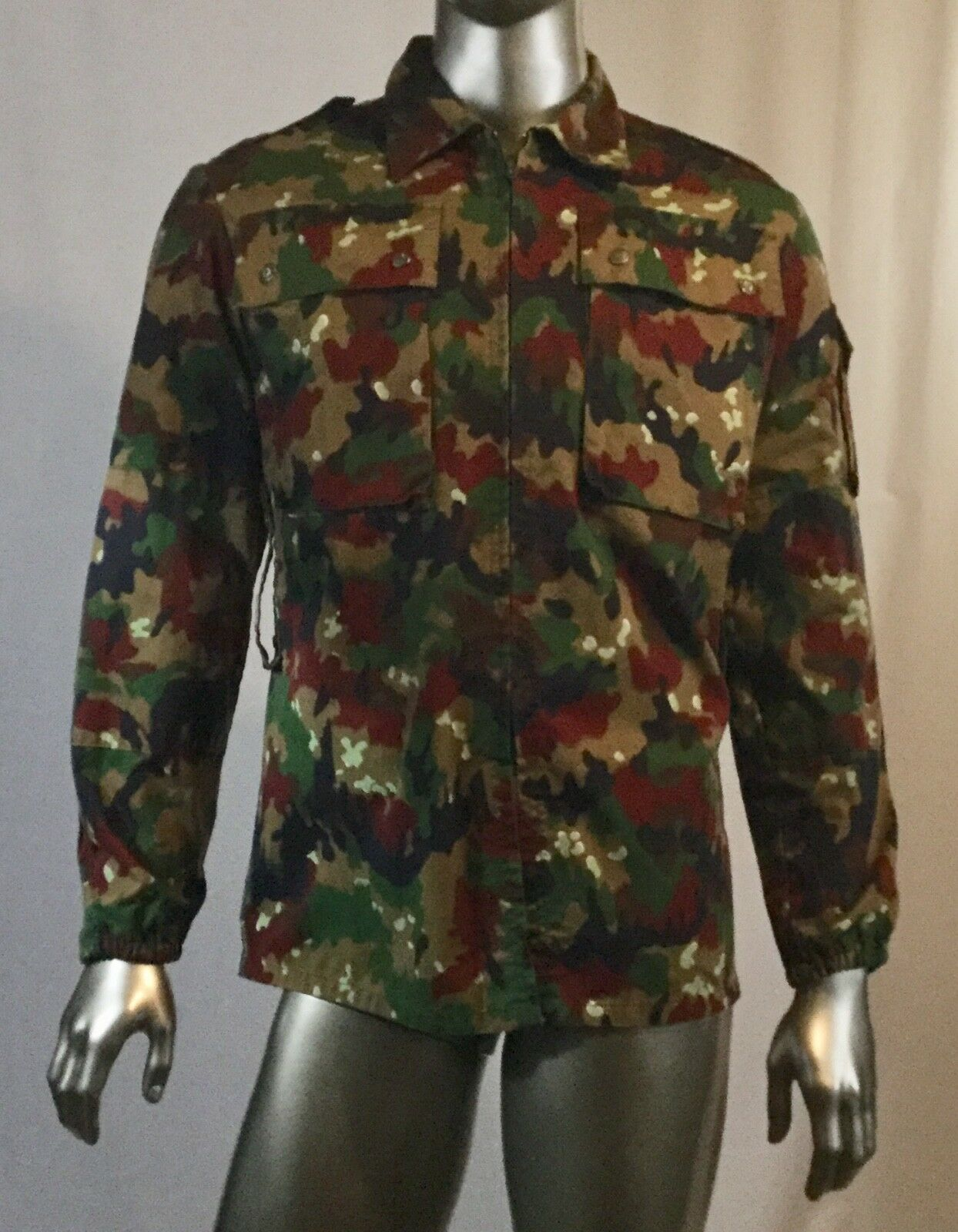 Herren Mans Zip Up Camo Hoody Army Camouflage Top/zip Up, see measurements
